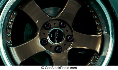 Side view of a color stylish wheel