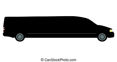 Side view of a limousine
