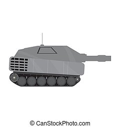 Side view of a military war tank