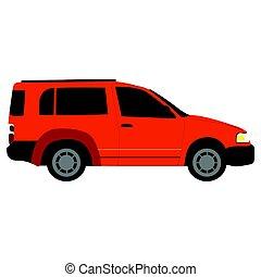 Side view of a van