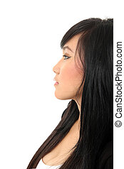side view of asian girl