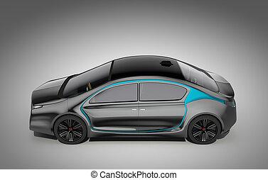 Side view of autonomous car - Side view of autonomous...