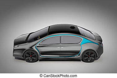 Side view of autonomous car - Side view of autonomous...