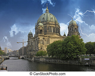 Side view of Berliner Dom, Germany