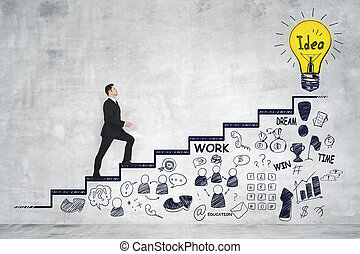 Career development and success concept