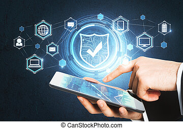 Cyberspace protection concept