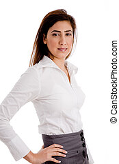 side view of businesswoman
