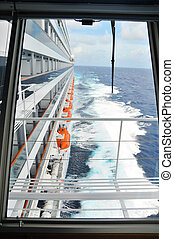 Side View of Cruise Ship