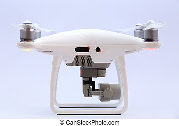 Side view of drone isolated