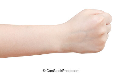 side view of fist - hand gesture
