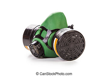 green gas mask