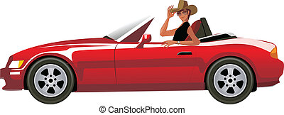 Side view of man sitting in car - There is a guy wearing a...
