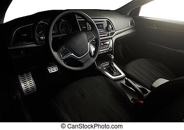 Side view of modern car dashboard