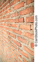 old orange vintage brick wall