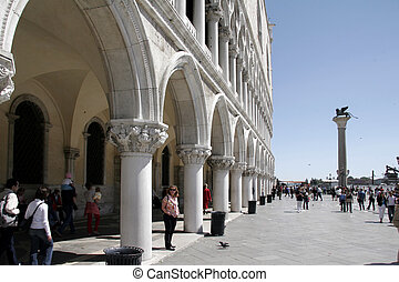Side view of Palazzo Ducale, Venice, Italy