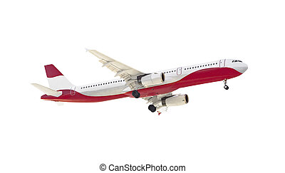 Side view of passenger plane.