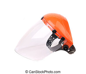 Side view of protective face shield.
