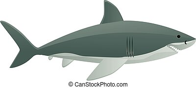 Side view of shark vector icon