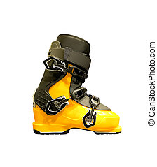 Side view of ski boot.