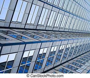 Side view of skyscraper