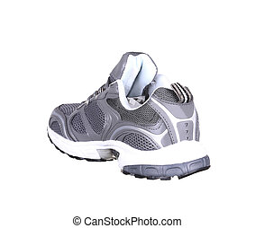 Side view of sport shoe. Isolated on a white background.