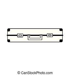side view of suitcase icon