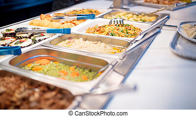 side view of the buffet