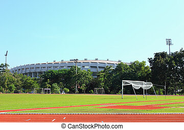 Side view of the stadium
