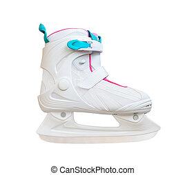 white ice skates isolated