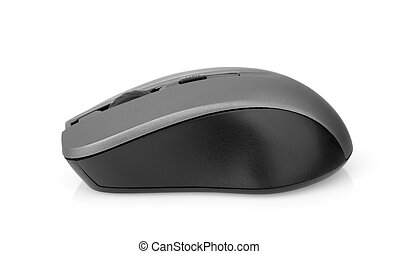 Side view of wireless computer mouse