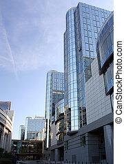 European Parliament - Side view on the European Parliament...