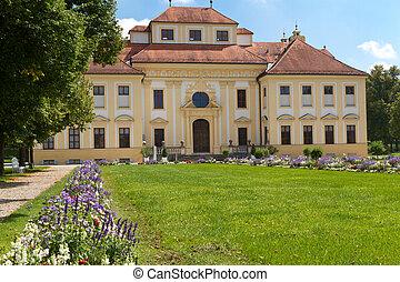 """side), (west, exterior, munich, alemania, """"lustheim"""", castillo"""