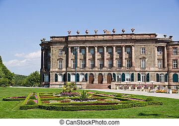Side wing of Schloss Wilhelmshoehe in Kassel, Germany