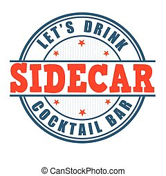 Sidecar cocktail stamp