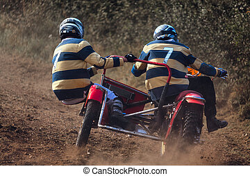 Sidecar motocross at the Goodwood Revival