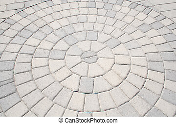 Sidewalk Abstract - The Bricks of a Sidewalk Create an...