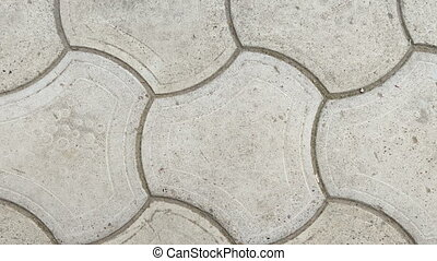 Sidewalk tile top view