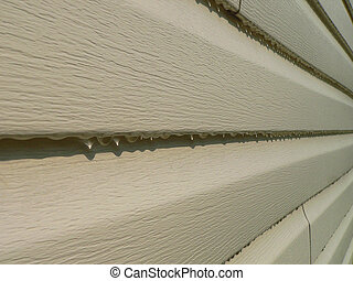 Siding with Raindrop - Vinyl Siding in the Rain