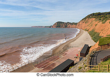 Sidmouth beach Devon England UK