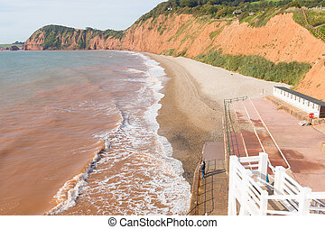 Sidmouth coast Devon England UK