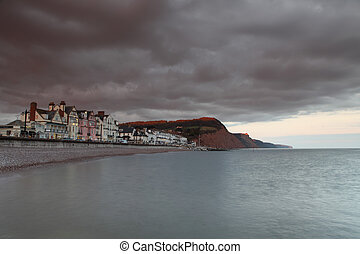 Sidmouth in Devon by sunlight