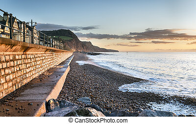 Sidmouth Seafront in Devon