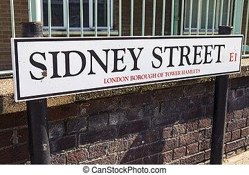 Sidney Street in London