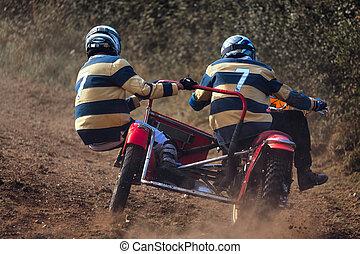 sidvagn, motocross, hos, den, goodwood, nypremiär