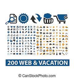 sieć, 20, &, komplet, ikony, urlop, wektor
