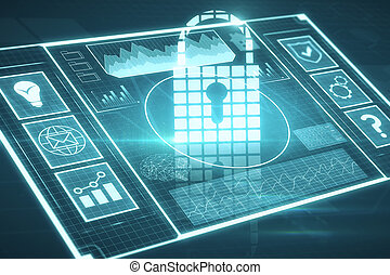 sieć, bezpieczeństwo, i, dane, pojęcie