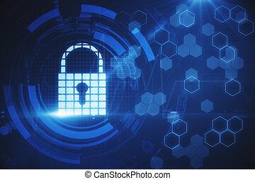 sieć, bezpieczeństwo, i, nauka, pojęcie