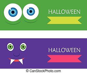 sieć, chorągwie, halloween