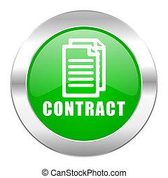 sieć, chrom, odizolowany, ikona, kontrakt, koło, zielony