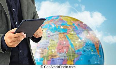 sieć, concept., globalny